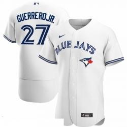 Men Toronto Blue Jays 27 Vladimir Guerrero Jr  Men Nike White Home 2020 Flex Base Player MLB Jersey