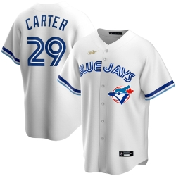 Men Toronto Blue Jays 29 Joe Carter Nike Home Cooperstown Collection Player MLB Jersey White