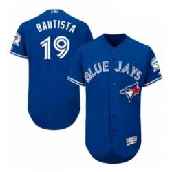 Mens Majestic Toronto Blue Jays 19 Jose Bautista Blue Alternate Flex Base Authentic Collection MLB Jersey