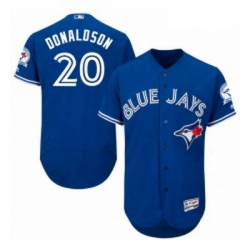 Mens Majestic Toronto Blue Jays 20 Josh Donaldson Blue Alternate Flex Base Authentic Collection MLB Jersey