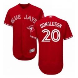 Mens Majestic Toronto Blue Jays 20 Josh Donaldson Scarlet Flexbase Authentic Collection Alternate MLB Jersey