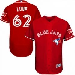 Mens Majestic Toronto Blue Jays 62 Aaron Loup Scarlet Alternate Flex Base Authentic Collection MLB Jersey