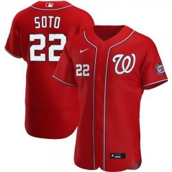 Men Washington Nationals 22 Juan Soto Men Nike Red Alternate 2020 Flex Base Player MLB Jersey