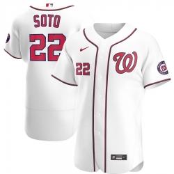 Men Washington Nationals 22 Juan Soto Men Nike White Home 2020 Flex Base Player MLB Jersey