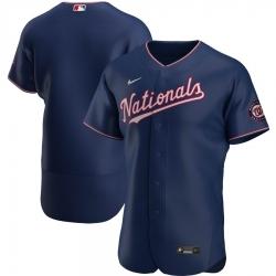 Men Washington Nationals Men Nike Navy Alternate 2020 Flex Base Team MLB Jersey