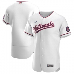 Men Washington Nationals Men Nike White Alternate 2020 Flex Base Team MLB Jersey