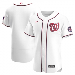 Men Washington Nationals Men Nike White Home 2020 Flex Base Team MLB Jersey
