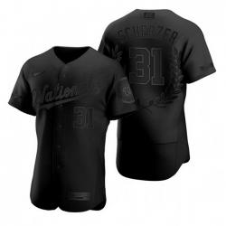 Nationals 31 Max Scherzer Black Nike Flexbase Fashion Jersey