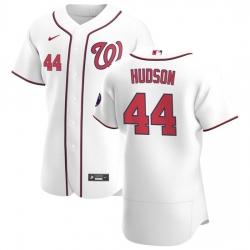 Washington Nationals 44 Daniel Hudson Men Nike White Home 2020 Authentic Player MLB Jersey
