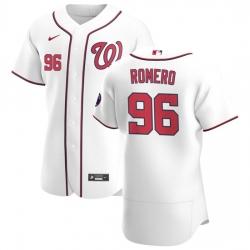 Washington Nationals 96 Seth Romero Men Nike White Home 2020 Authentic Player MLB Jersey