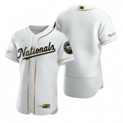 Washington Nationals Blank White Nike Mens Authentic Golden Edition MLB Jersey