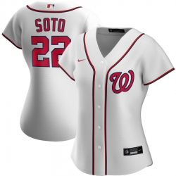 Washington Nationals 22 Juan Soto Nike Women Home 2020 MLB Player Jersey White
