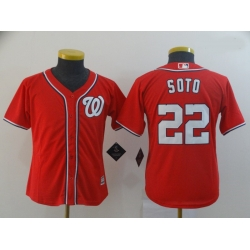 Youth Nationals 22 Juan Soto Red Cool Base Jersey