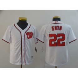 Youth Nationals 22 Juan Soto White Cool Base Jersey