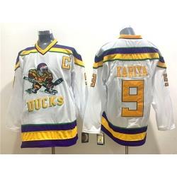 Ducks 9 Paul Kariya White CCM Jersey