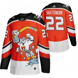 Men Anaheim Ducks 22 Kevin Shattenkirk Red Adidas 2020 21 Reverse Retro Alternate NHL Jersey