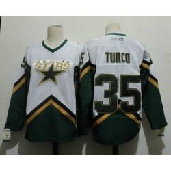 Men Dallas Stars 35 MARTY TURCO 2003 CCM Throwback Home NHL Jersey