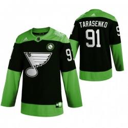 Men St.Louis Blues 91 Vladimir Tarasenko Green 2020 Adidas Jersey