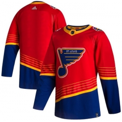 Men St.Louis Blues Blank Red 2020 21 Reverse Retro Adidas Jersey