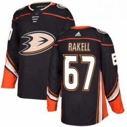 Mens Adidas Anaheim Ducks 67 Rickard Rakell Authentic Black Home NHL Jersey