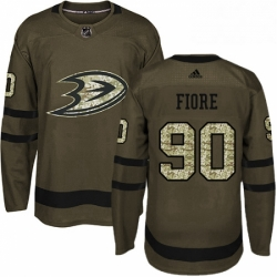 Mens Adidas Anaheim Ducks 90 Giovanni Fiore Premier Green Salute to Service NHL Jersey