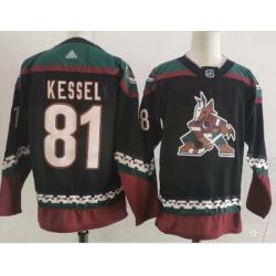 Men Arizona Coyotes 81 Phil Kessel Throwback Kachina Black Jersey