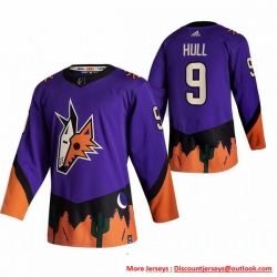 Men Arizona Coyotes 9 Clayton Keller Purple Adidas 2020 21 Reverse Retro Alternate NHL Jersey