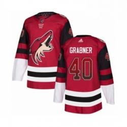 Mens Adidas Arizona Coyotes 40 Michael Grabner Authentic Maroon Drift Fashion NHL Jersey