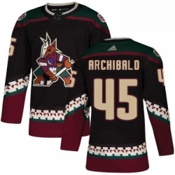 Mens Adidas Arizona Coyotes 45 Josh Archibald Premier Black Alternate NHL Jersey