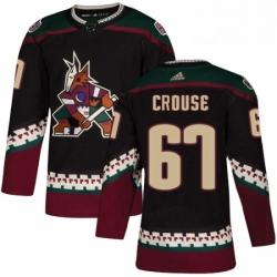 Mens Adidas Arizona Coyotes 67 Lawson Crouse Premier Black Alternate NHL Jersey