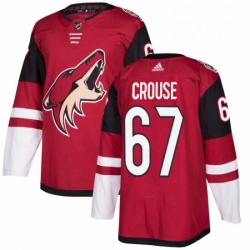 Mens Adidas Arizona Coyotes 67 Lawson Crouse Premier Burgundy Red Home NHL Jersey