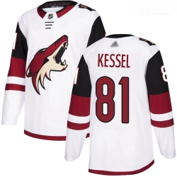 Coyotes #81 Phil Kessel White Road Authentic Stitched Youth Hockey Jersey
