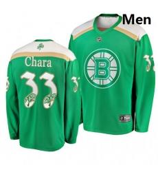 Bruins 33 Zdeno Chara Green 2019 St  Patrick Day Adidas Jersey