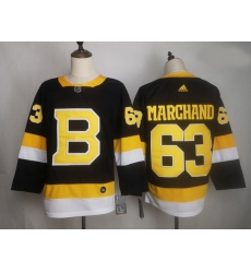 Bruins 63 Brad Marchand Black Adidas Jersey