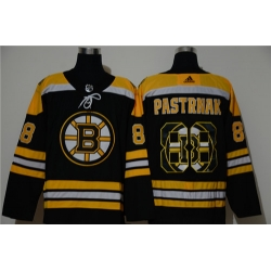Bruins 88 David Pastrnak Black Adidas Fashion Jersey