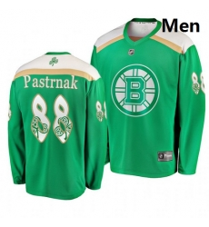 Bruins 88 David Pastrnak Green 2019 St  Patrick Day Adidas Jersey