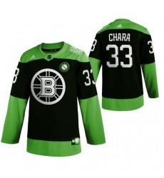 Men Boston Bruins 33 Zdeno Chara Green 2020 Adidas Jersey
