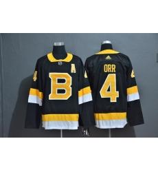 Men Boston Bruins 4 Bobby Orr Black Adidas Jersey
