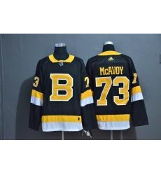 Men Boston Bruins 73 Charlie McAvoy Black Adidas Jersey