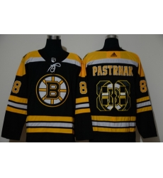 Men Boston Bruins 88 David Pastrnak Black Adidas Fashion Jersey