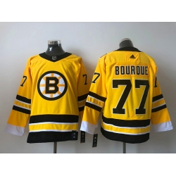 Men Boston Bruins Ray Bourque 77 Yellow 2021 Adidas Stitched NHL Jersey