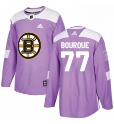 Mens Adidas Boston Bruins 77 Ray Bourque Authentic Purple Fights Cancer Practice NHL Jersey