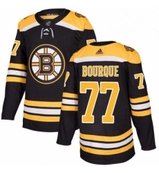 Mens Adidas Boston Bruins 77 Ray Bourque Premier Black Home NHL Jersey