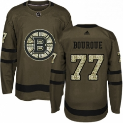 Mens Adidas Boston Bruins 77 Ray Bourque Premier Green Salute to Service NHL Jersey