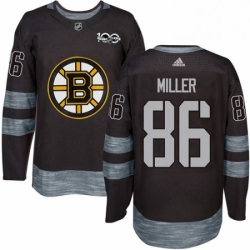 Mens Adidas Boston Bruins 86 Kevan Miller Authentic Black 1917 2017 100th Anniversary NHL Jersey