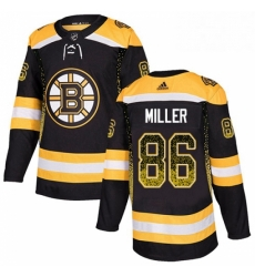 Mens Adidas Boston Bruins 86 Kevan Miller Authentic Black Drift Fashion NHL Jersey