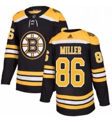 Mens Adidas Boston Bruins 86 Kevan Miller Authentic Black Home NHL Jersey
