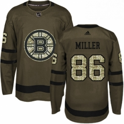 Mens Adidas Boston Bruins 86 Kevan Miller Authentic Green Salute to Service NHL Jersey