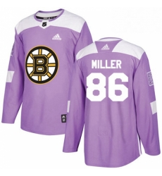 Mens Adidas Boston Bruins 86 Kevan Miller Authentic Purple Fights Cancer Practice NHL Jersey
