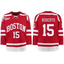 Boston University Terriers BU 15 Nick Roberto Red Stitched Hockey Jersey